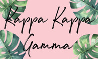 Kappa Kappa Gamma Sorority Flag- Palm