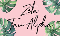 Zeta Tau Alpha ZTA Sorority Flag- Palm