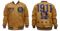 Omega Psi Phi Fraternity Lightweight Jacket- Old Gold