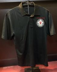Pi Kappa Alpha PIKE Fraternity Dri-Fit Polo- Crest-Black