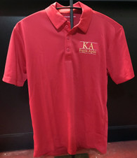 Kappa Alpha Fraternity Dri-Fit Polo- Red- Style 2- White Lines