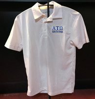 Alpha Tau Omega ATO Fraternity Dri-Fit Polo- White