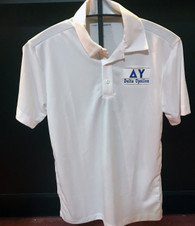Delta Upsilon DU Fraternity Dri-Fit Polo- White