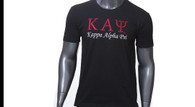 Kappa Alpha Psi Fraternity Embroidered T-Shirt- Black