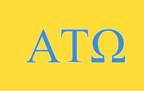 Alpha Tau Omega ATO Fraternity Flag- Yellow