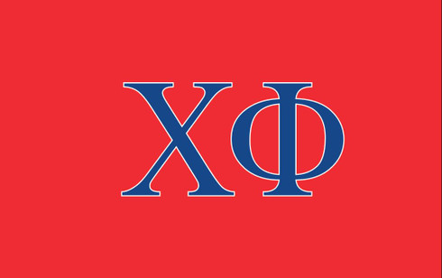 Chi Phi Fraternity Flag- Red