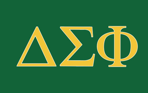 Delta Sigma Phi Fraternity Flag- Green