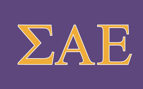 Sigma Alpha Epsilon Fraternity Flag-Purple