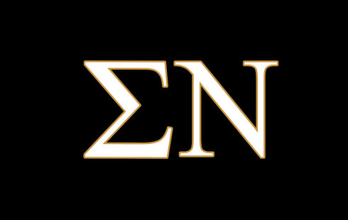 Sigma Nu Fraternity Flag- Black