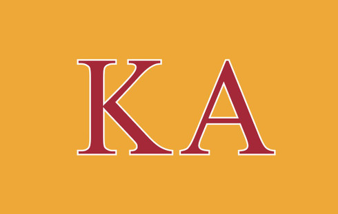 Kappa Alpha Fraternity Flag- Yellow