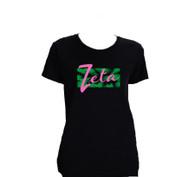 Zeta Tau Alpha ZTA Sorority Shirt- Palm