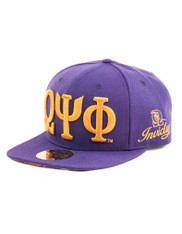 Omega Psi Phi Fraternity SnapBack Hat- Three Greek Letters