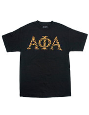 Alpha Phi Alpha Fraternity Three Greek Letter Graphic T-Shirt