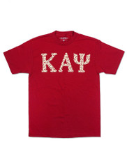 Kappa Alpha Psi Fraternity Three Greek Letter Graphic T-Shirt