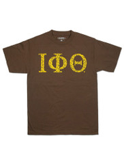 Iota Phi Theta Fraternity Three Greek Letter Graphic T-Shirt