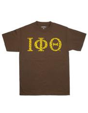 Iota Phi Theta Fraternity Three Greek Letter Graphic T-Shirt