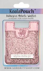 Alpha Delta Pi ADPI Koala Pouch- Pink Glitter