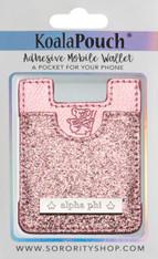 Alpha Phi Sorority Koala Pouch- Pink Glitter