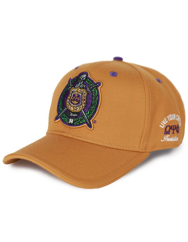 Omega Psi Phi Fraternity Crest Hat Old Gold Brothers And Sisters