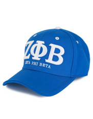 Zeta Phi Beta Sorority Three Greek Letters Hat- Blue