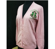 Alpha Kappa Alpha AKA Sorority Button Up Cardigan- Salmon Pink