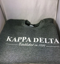 Kappa Delta Sorority Crewneck Sweatshirt- Graphite Heather