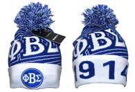Phi Beta Sigma Fraternity Beanie- Blue/White- Style 1