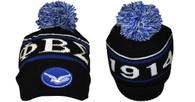 Phi Beta Sigma Fraternity Beanie- Black/Blue