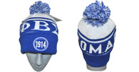 Phi Beta Sigma Fraternity Beanie- Blue/White- Founding Year- Style 2
