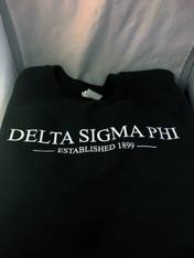 Delta Sigma Phi Crewneck Sweatshirt- Forest Green