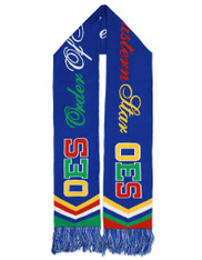 Order of the Eastern Star OES Scarf- Blue