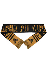 Alpha Phi Alpha Fraternity Scarf-Black/Gold