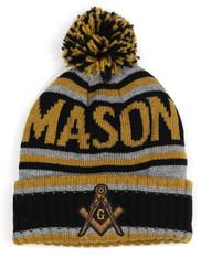 Mason Masonic Pom Beanie- Front