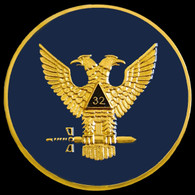 Mason Masonic 32nd Degree Car Emblem- Wings Up