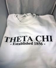 Theta Chi Fraternity Crewneck Sweatshirt- White