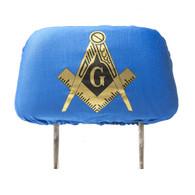 Mason Masonic Headrest Cover- Blue- Set of 2