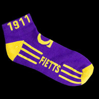 Omega Psi Phi Fraternity Socks Footies- Purple/Gold