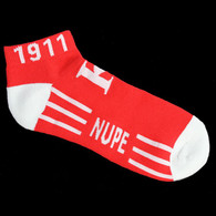 Kappa Alpha Psi Fraternity Socks Footies- Style 2