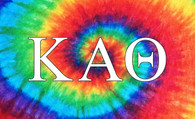 Kappa Alpha Theta Sorority Flag-Tie Dye