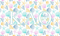 Kappa Alpha Theta Sorority Flag- Seashell