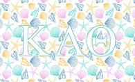 Kappa Alpha Theta Sorority Flag- Seashell