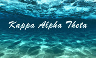 Kappa Alpha Theta Sorority Flag- Ocean