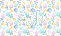 Alpha Phi Sorority Flag- Seashells