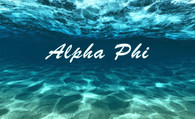 Alpha Phi Sorority Flag- Ocean