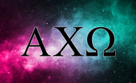 Alpha Chi Omega Sorority Flag- Galaxy