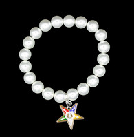 Order of the Eastern Star OES Pearl Bracelet