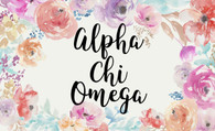 Alpha Chi Omega Sorority Flag- Floral- Style 1