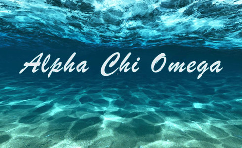 Alpha Chi Omega Sorority Flag- Ocean Floor