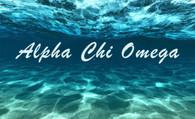 Alpha Chi Omega Sorority Flag- Ocean Floor