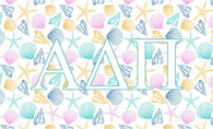 Alpha Delta Pi ADPI Sorority Flag- Seashells